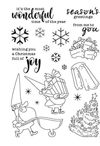 Neujahr Weihnachtsmann Stempel transparent klar Silikon Stempel/Siegel für DIY Scrapbooking/Fotoalbum dekorative klare Stempel W1074
