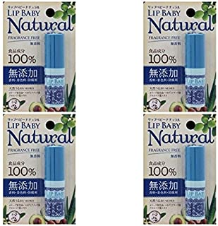 【まとめ買い】メンソレータム リップベビーナチュラル 無香料 4g【×4個】