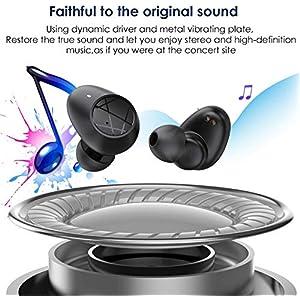 HolyHigh【2020 Neuestes Modell Bluetooth Kopfhörer in Ear, Kopfhörer Kabellos mit Stereoklang HD Anruf Wireless Kopfhörer, Touch Sensoren/30 Std.Spielzeit/Leicht/Wasserdicht