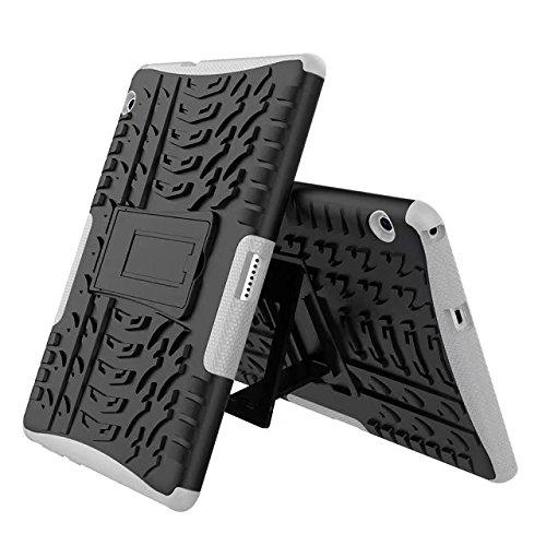 Huawei MediaPad T3 10 9.6 Inch Case HAOSHI [Shockproof] Armor Hybrid Defender Rugged Protective Case Cover for Huawei MediaPad T3 10 9.6 inch Case White