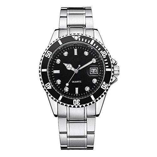 Bokeley Luxury Men's Wrist Watch - Stainless Steel Band - Chronograph Watch - Japanese Quartz Movement (Black)