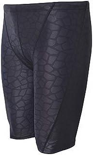 Vocni Men's Swim Trunk Quick Dry Rapid Swim Splice Square Solid Jammer Swim Suit