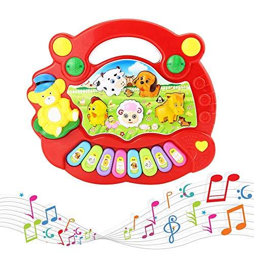 AROVEC Bebé Rojo Juguete educativo Instrumento Musical Juguete Piano Música Botón Bebé Instrumento Musical