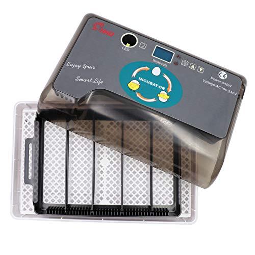 Incubatrice Automatica Uova,Schermo Led Digitale Mostra Incubatrici Che Controllano Temperatura Delle Uova,Utilizzate per Polli Anatre Oche(Spina UE)