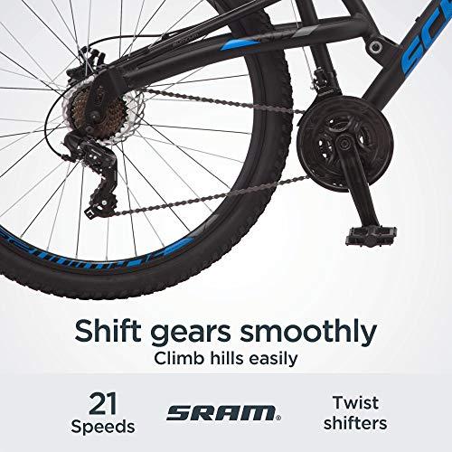 Product Image 5: Schwinn S29 Mens Mountain Bike, 29-Inch Wheels, 18-Inch/Medium Aluminum Frame, Dual-Suspension, Mechanical Disc Brakes, Matte Black