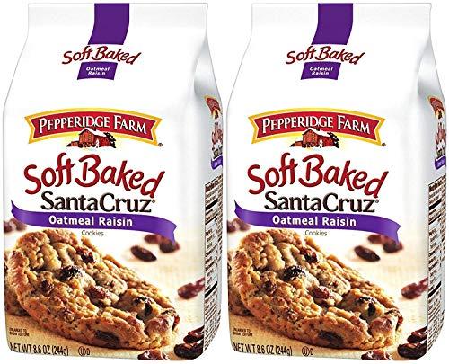 Pepperidge Farm Soft Baked Cookies - Santa Cruz Oatmeal Raisin - 8.6 oz - 2 Pack