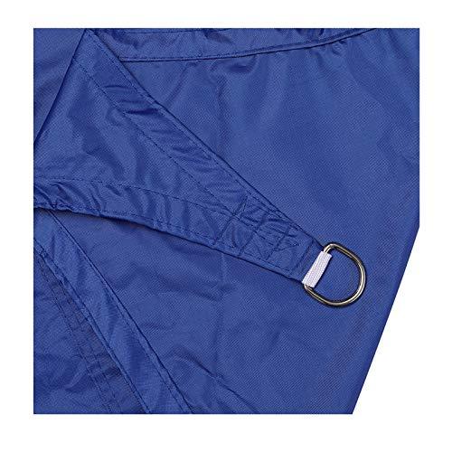 MJJYS La Vela de sombrilla es Impermeable, toldo Protector Solar, Adecuado para la Cortina de Protector Solar del Patio de jardín al Aire Libre, 2 * 2 m,Azul