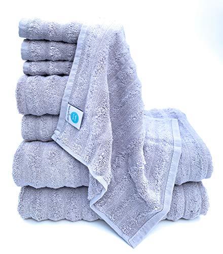 The Best Turkish Towels - 100% Turkish Cotton, Ultra-Soft, Fluffy, Absorbent, Durable, Eco-Friendly, Luxurious - Machine Washable – Trendy Colors (4 pcs Bath Towel Set, Multi-Color)
