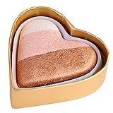 Cocohot Loving Heart Rainbow Highlighter Eye Shadow Blush Makeup Kit (A1)