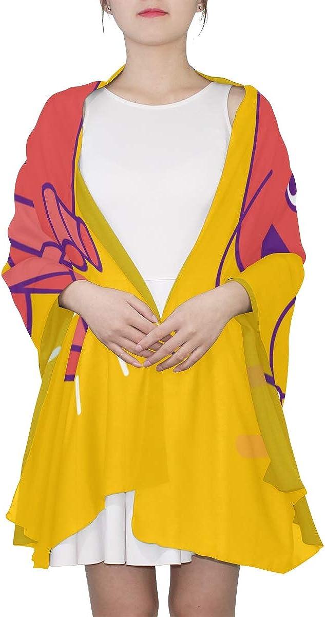 Scarf Long Women Healthy Cardiovascular Cartoon Heart Womens Long Scarf Lightweight Womens Soft Scarf Lightweight Print Scarves Fashion Scarf Lightweight Man Head Scarf