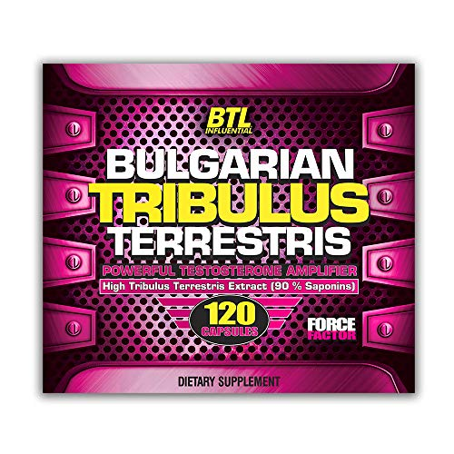 BTL - Bulgarian Tribulus Terrestris 120 Capsules x 500mg 90% Saponins 45% Protodioscin Natural Herbal Supplement Boosts Тestosterone