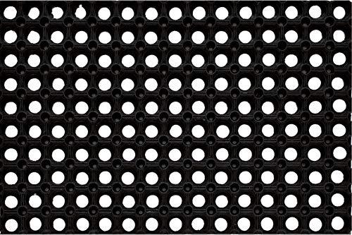 PEGANE Tapis Gratte-Pieds extérieur caillebotis en Caoutchouc - Dim : 40 x 60 cm