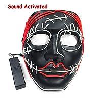 2020 Latest Design 熱い販売ハロウィーン怖いマスクワイヤーEl輝く製品Halloween PartyのためのDC-3V El Driverとの法的休日の装飾DIYマスク