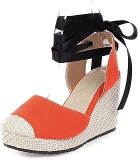 Women's Shoes Color-Block Fabric Foot Binding Sandals