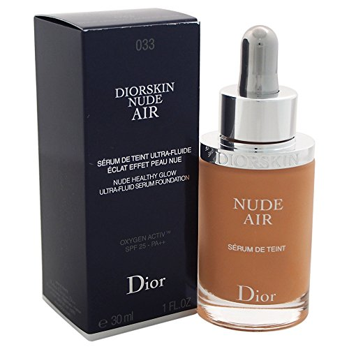 Dior - Diorskin Nude Air Serum, Fondotinta Donna, 033-Beige Abricot, 30 ml, 1 pz.