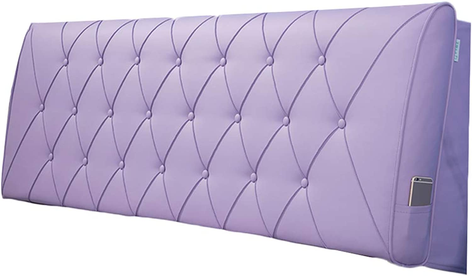 WENZHE Upholstered Fabric Headboard Bedside Cushion Pads Cover Bed Wedges Backrest Waist Pad PU Pillow Home Bedroom Waist Belt Soft Case, 5 colors (color   C, Size   90x60x11cm)