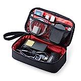 サンワダイレクト トラベルポーチ ガジェットポーチ 旅行 出張 便利グッズ マウス ケーブル モバイルバッテリー 収納ポーチ ブラック 200-BAGIN006BK