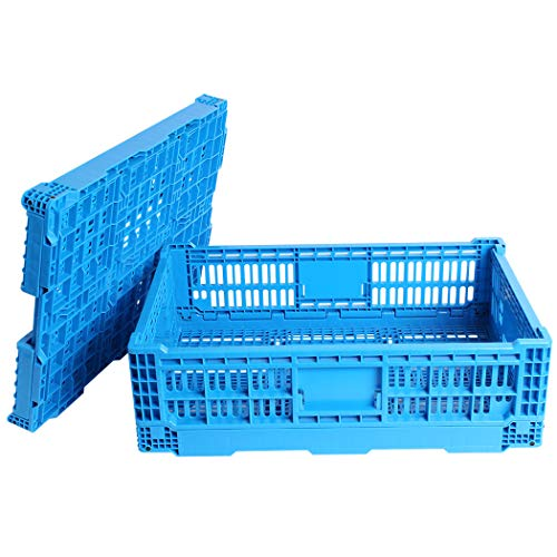 QTJH Collapsible Storage Bin/Containe, Transfer box,crate Transit storage of various items (23.6' L x 15.7' W x 7.1' H)