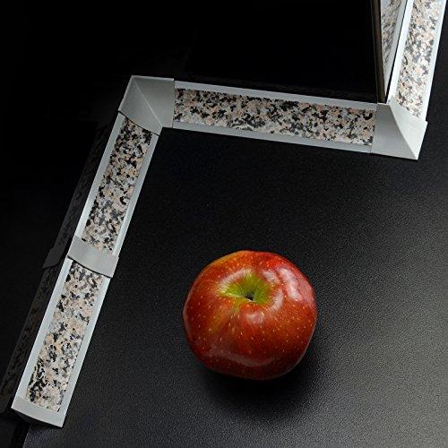 [DQ-PP] Verbinder für Winkelleisten Granit für Küchen 23mm x 23mm Arbeitsplatten Grundprofil Abschlussleiste Küchenabschlussleiste Tischplattenleisten