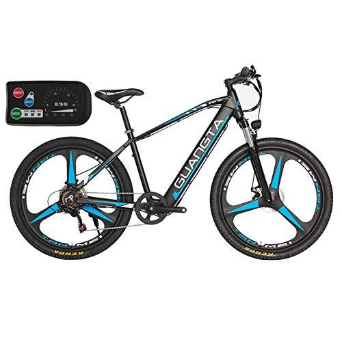 BAIYIQW Bicicletas Electricas De Paseo (Adecuado para Altura: 158cm-200 cm) / Peso 20kg, rodamiento de baterías de Litio de 130 kg / 48VA / 350W Motor de Alta Velocidad,Azul,48V/10AH/90km