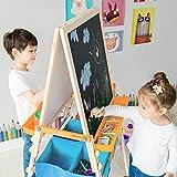 Teamson Kids Tableau évolutif chevalet Enfant en Bois Multifonction 3 en 1 avec Rangement Bleu Fille garçon Mixte TK-FB028G