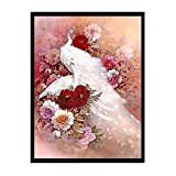 Leinwand Bild,Weißer Pfau Blume, Poster Und Drucke