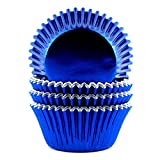 Eoonfirst Foil Metallic Cupcake Liners Standard Baking Cups 100 Pcs (Navy Blue)