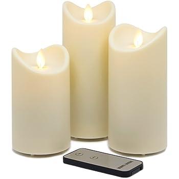 Tronje Led Echtwachskerzen 4er Set Mit Timer U Fernbedienung 15cm Kerzen Mit Beweglicher Flamme 1000 Std Brenndauer Creme Weiss Amazon De Beleuchtung