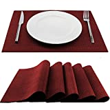 Trivetrunner:Decorative Modular Trivet Runner for Table 6 pcs Placemats Hot Pad, Heat-Resistant Surface,for Hot Plates, Pots, Dishes, Cookware for Kitchen (6 pcs Burgundy Placemats)