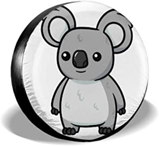 ENEVOTX Cartoon Koala Vector Illustration Rear Jeep Tire Cover Spare Tire Cover for Women Tire Cover Waterproof Uv Sun 14 - 17 Fit for Jeep Trailer Rv SUV and Many Vehicle