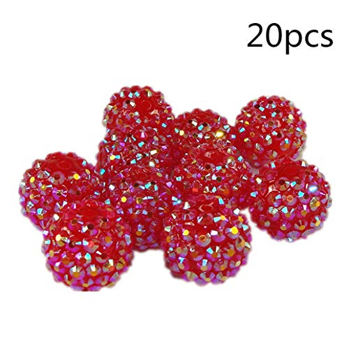 Himolla 20 Paquete Perlas De Acrílico Spacer Diy Charm Bracelet Necklace Beads Accesorio Craft Art Jewelry Making Decorations