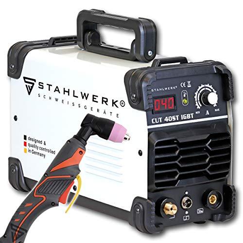STAHLWERK CUT 40 ST IGBT - Cortador de plasma con 40 amperios, hasta 10 mm de potencia de corte, adecuado para chapas y óxido lacados