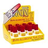 Big Bondini Plus All Purpose Hypo-Allergenic Nail Glue 0.14 oz 12 Bottle Display