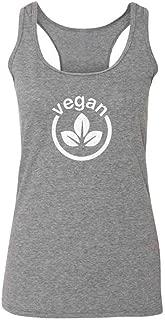 Vegan Logo Vegetarian Lifestyle Fashion Tank Top Tee for Women