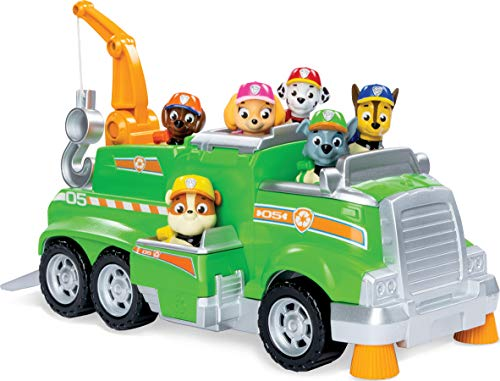 PAW Patrol Rockys Recycling-Truck für das ganze Team, mit 6 Welpen, für Kinder ab 3 Jahren