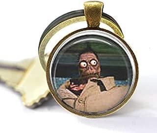 Beetlejuice & Shrunken Head Guy Keychain