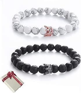 Les couples roi reine couronne Bracelets amitié réglable LOVE distance Bracelets
