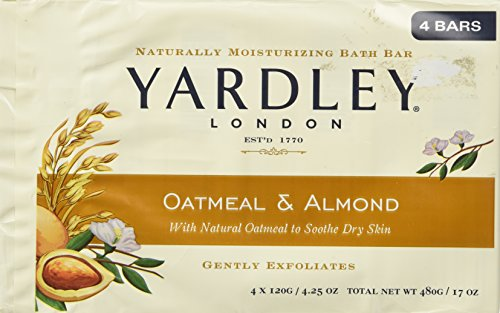 Yardley of London Naturally Moisturizing Bar Soap Oatmeal & Almond 3+1 Free by Yardley