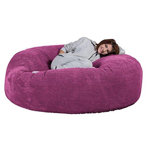Lounge Pug®, 'Mega-Mammoth' Sofa Sitzsack XXL, Schlafsofa, Pom-Pom Pink