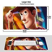 トイ?ストーリー4 マウスパッド 光学マウス対応 パソコン 周辺機器 超大型 防水 洗える 滑り止め 高級感 耐久性が良い 40*75cm