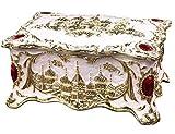 CHXISHOP - Portagioie rettangolare in lega, stile vintage, stile castello creativo, multistrato, smaltato, per gioielli, compleanno, matrimonio, confezione regalo