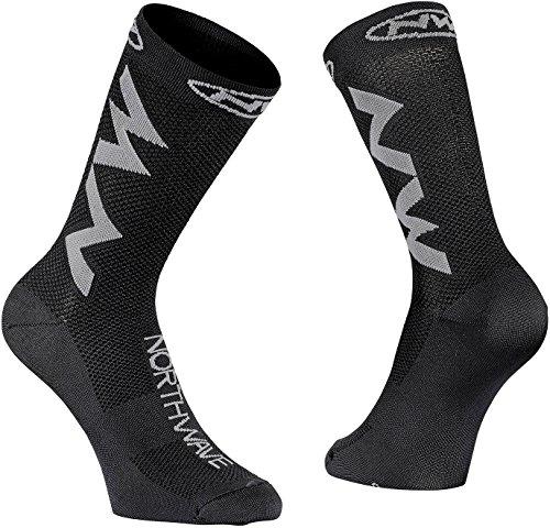 Northwave Extreme Air Fahrrad Socken schwarz/grau 2018: Größe: M (40-43)