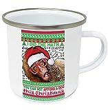 teesquare1st Christmas Macaque 10oz Tazza da Caffe Natalizia/Tazza di Natale