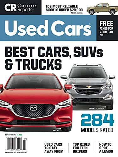 Consumer Reports Used Cars Magazine September 2021, Best...