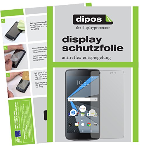 dipos I 2X Schutzfolie matt kompatibel mit BlackBerry DTEK50 Folie Bildschirmschutzfolie