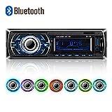 POMILE Auto Radio MP3, Single Din Autoradio (Bluetooth, USB, SD, AUX Anschluss) Auto MP3 Player , Freisprechfunktion und integriertes Mikrofon