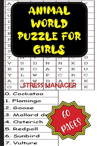 Animal World Puzzle for Girls: STRESS MANAGER