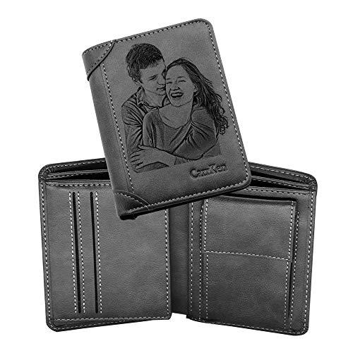 Personalisierte Brieftaschen für Männer, individuell Geschnitzte Brieftaschen, personalisierte Geschenke für Freunde, Ehemänner, Väter und Söhne