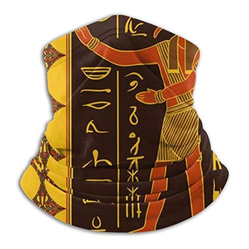 Lzz-Shop gebreid patroon met halsdoek, Egyptische godin en jeroglyphische godin haarband, sjaal, hoofdbedekking, hals, gamas, vissen met tube, sportsjaal voor het gezicht
