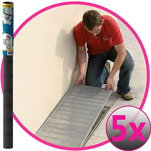 Easy Life 5er Set Aluminium Gitter 60 x 120 cm greenLINE Aktion für Lichtschächte Lichtschachtabdeckung Alu-Gewebe Kellerschachtabdeckung